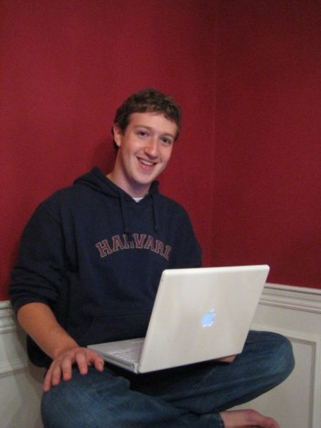 Mark Zuckerberg on a mac