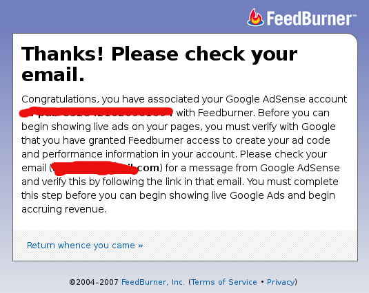 feedburner login adsens ok
